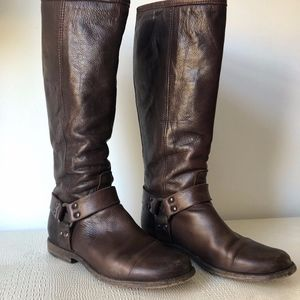 FRYE  knee-high harness riding boots, 7.5 W
